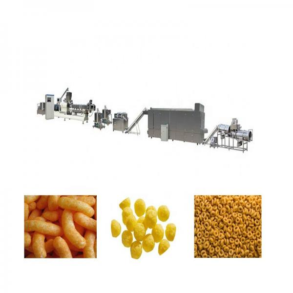 Jinan Datong Full Automatic Extruded Wheat Fried 3D Pellet Bugles Crispy Chips Snack Food Processing Making Machine #1 image